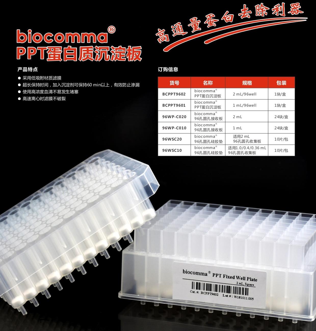 PPT蛋白质沉淀板